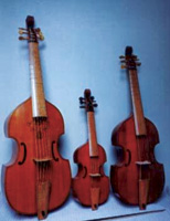 Viols of various sizes