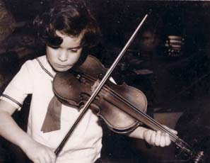 Sharan Leventhal as a child