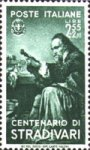 Stamp commemorating Stradivari